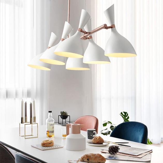 摩登長型餐吊燈-6燈 2