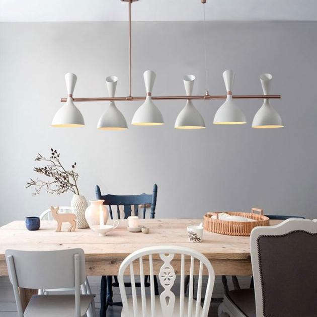 摩登長型餐吊燈-6燈 3