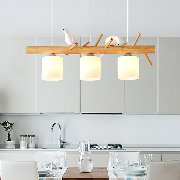 Pigeon  木頭鴿子吊燈 2
