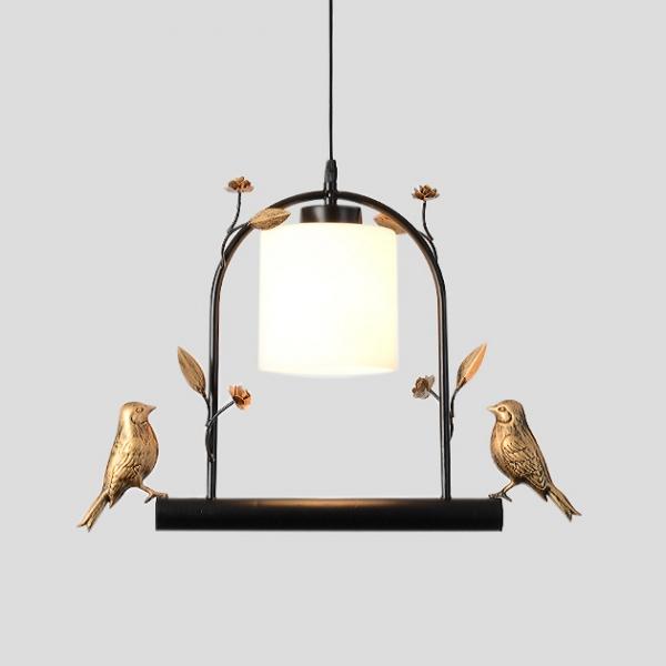 Horus  金屬小鳥吊燈 1
