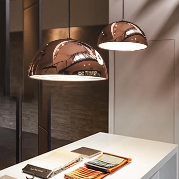 Nordic玫瑰金鍋蓋餐吊燈 5