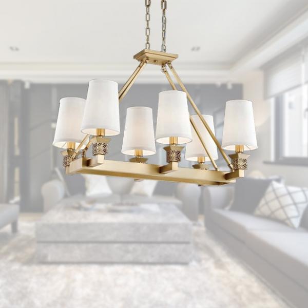 古典鄉村吊燈-6燈 2