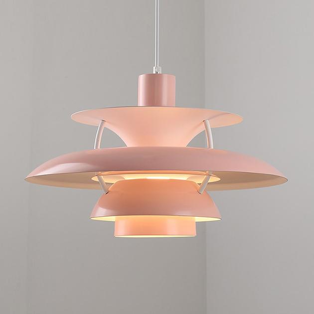 Louis Poulsen PH5吊燈(粉/綠) 3
