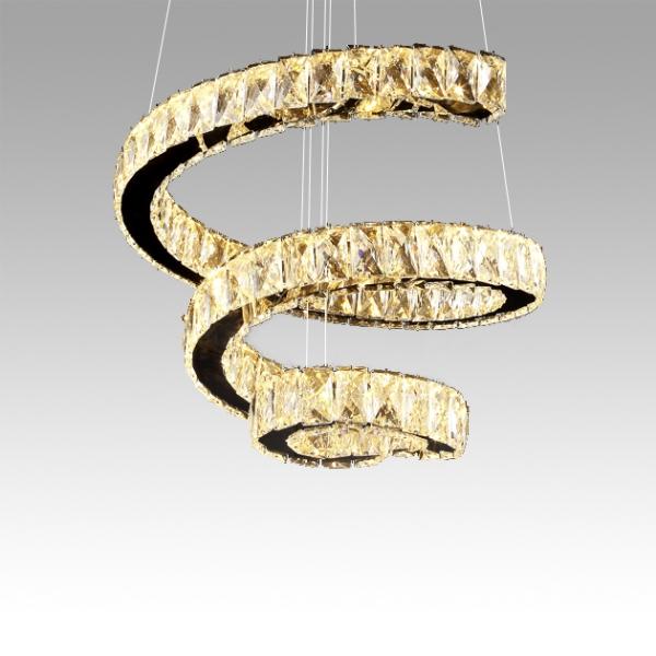DNA螺旋水晶吊燈 2