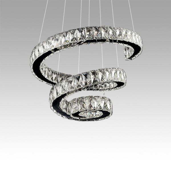 DNA螺旋水晶吊燈 1