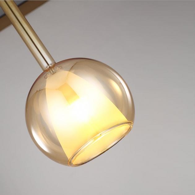 現代簡約電鍍玻璃吊燈 3