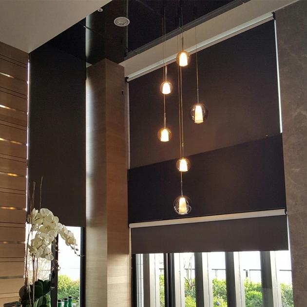 現代簡約電鍍玻璃吊燈 5