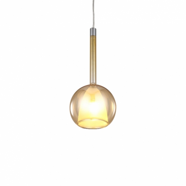 現代簡約電鍍玻璃吊燈 1