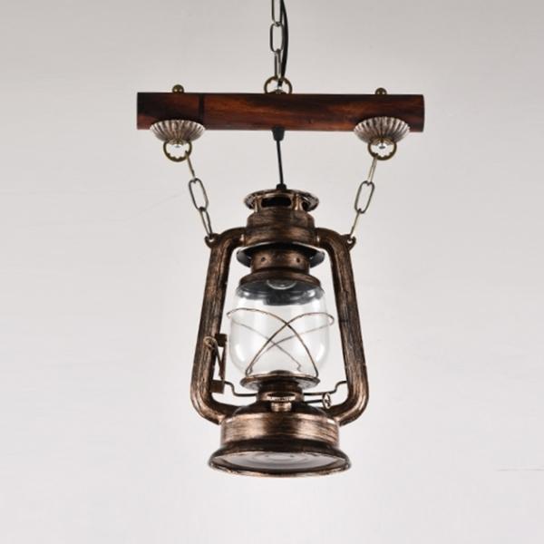 工業風復古油燈吊燈 1