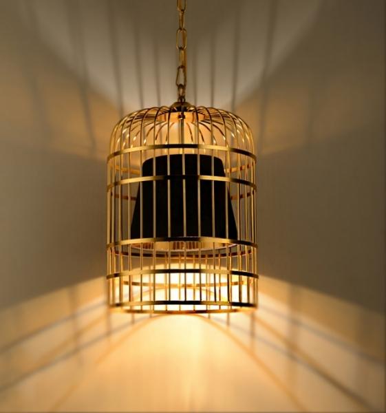 金色鳥籠吊燈 1