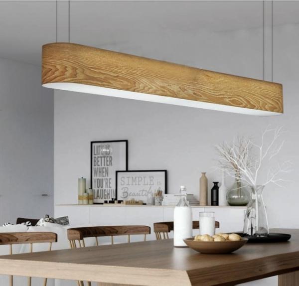 水曲木長型吊燈 1