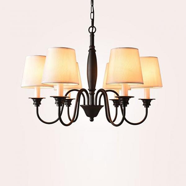 田園布藝吊燈-6燈 1