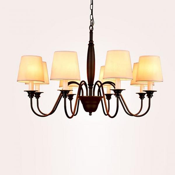 田園布藝吊燈-8燈 1