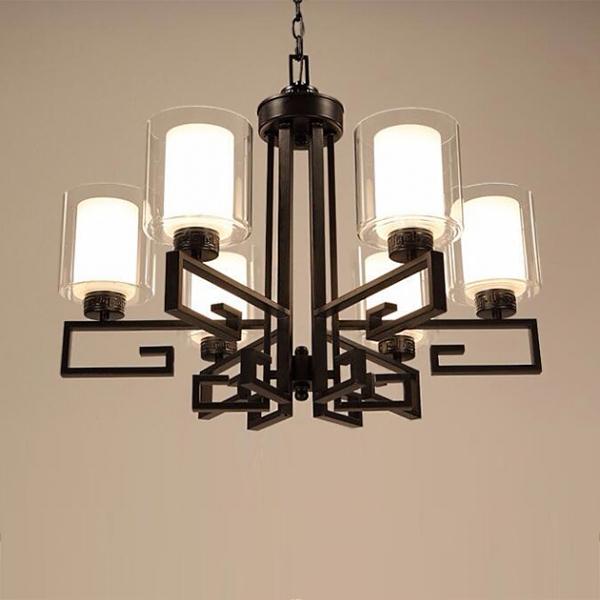 新中式直角吊燈-6燈 1