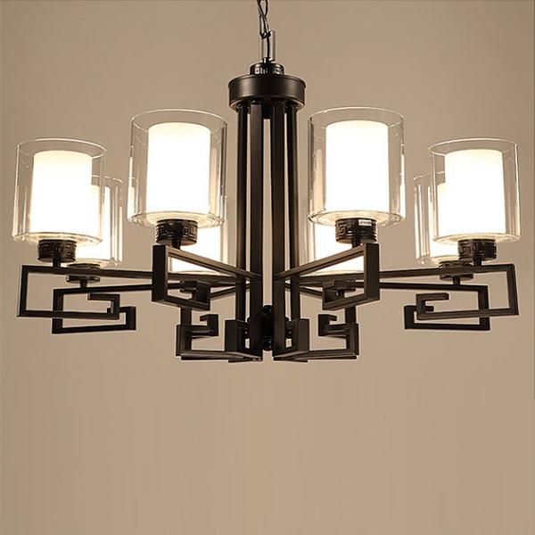 新中式直角吊燈-8燈 1