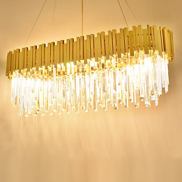 美式水晶橢圓吊燈 5