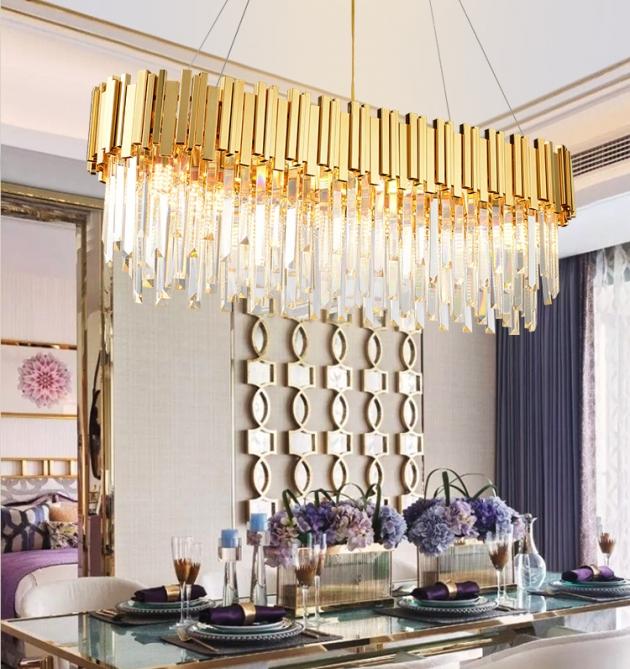 美式水晶橢圓吊燈 4