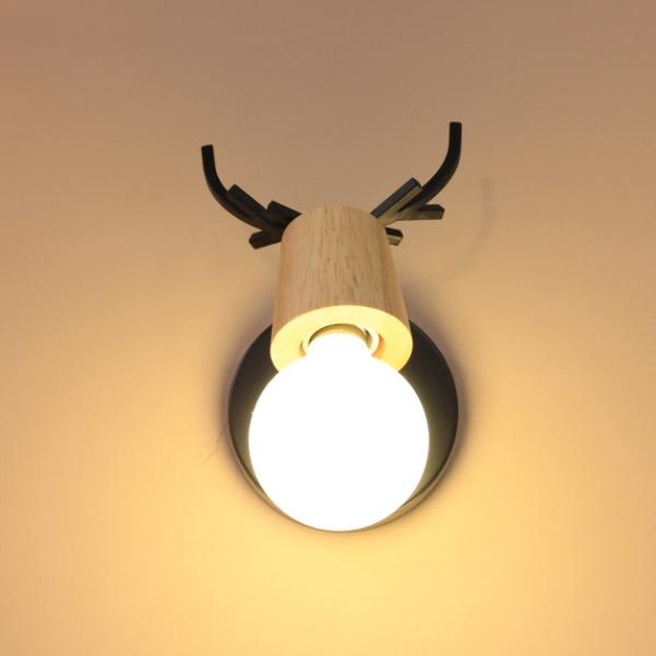 北歐鹿角壁燈 5