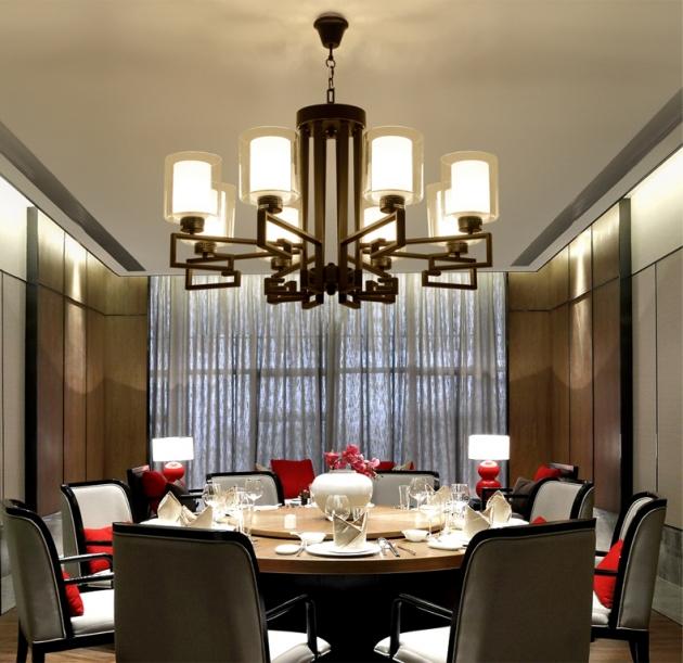 新中式直角吊燈-8燈 3