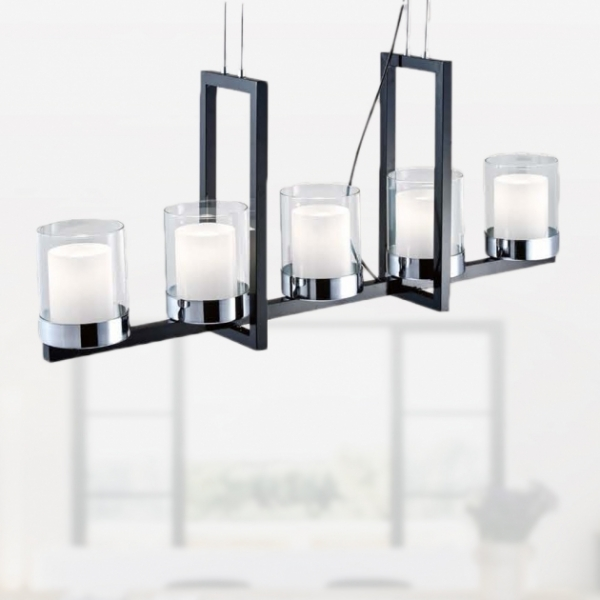 簡約圓形仿蠟燭吊燈 1