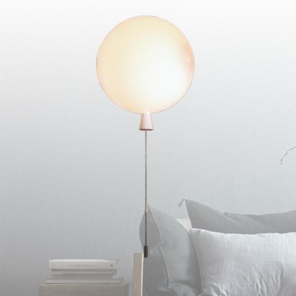 白色汽球壁燈 2