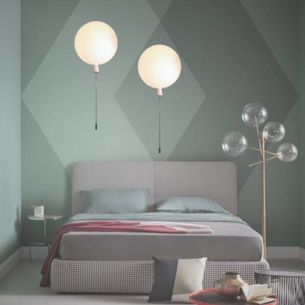 白色汽球壁燈 1