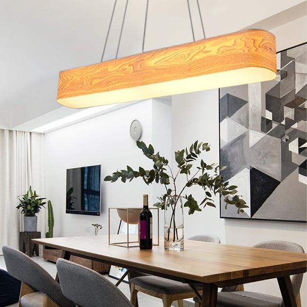 水曲木長型吊燈 4