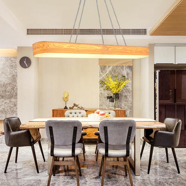 水曲木長型吊燈 3