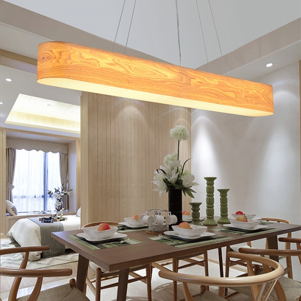 水曲木長型吊燈 2