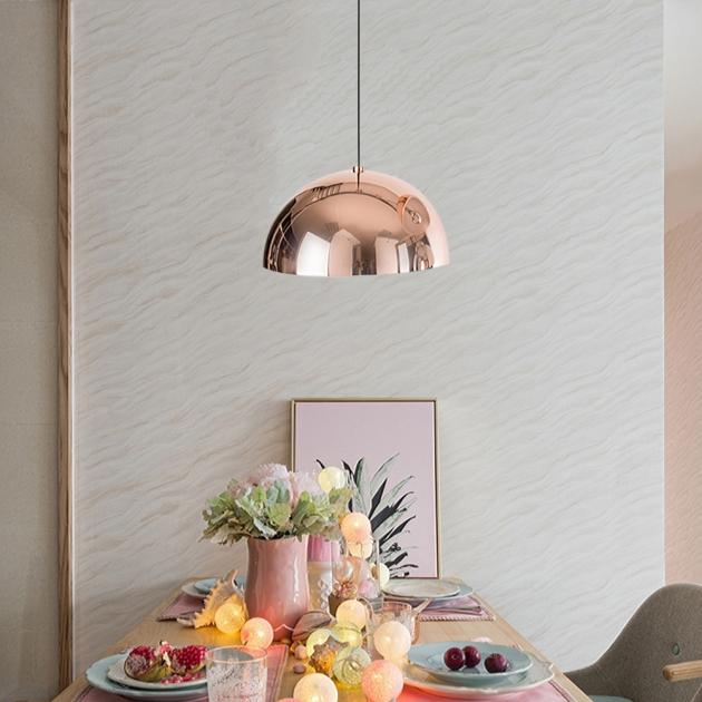 Nordic玫瑰金鍋蓋餐吊燈 2