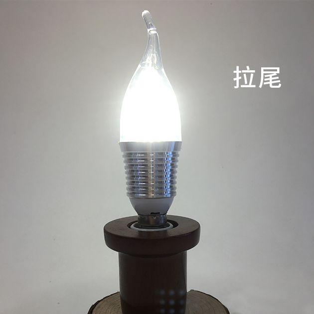 9W LED E14 尖清/拉尾 燈泡 4