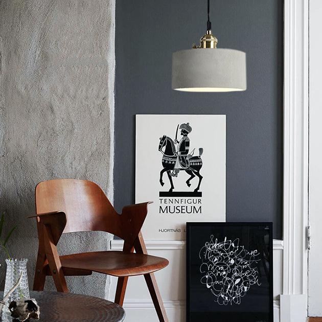 復古年華水泥吊燈 4