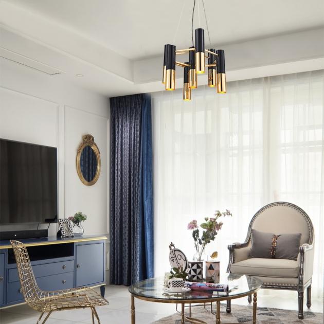 IKE LAMP黑金現代吊燈-7燈 4