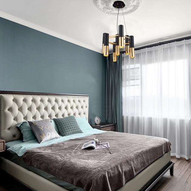 IKE LAMP黑金現代吊燈-7燈 5