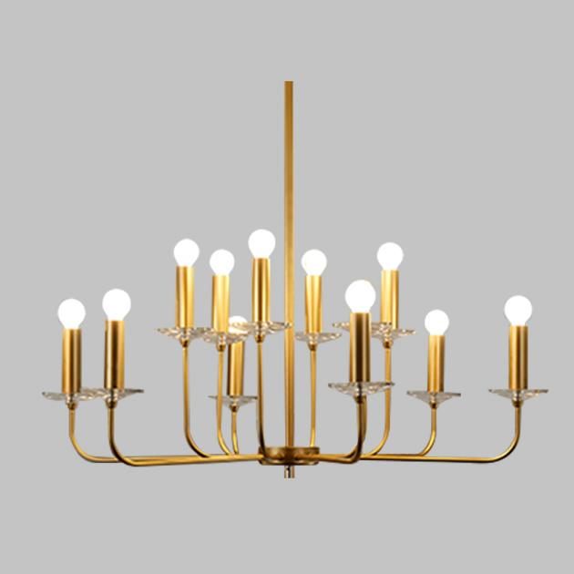 美式沙金燭臺吊燈 1