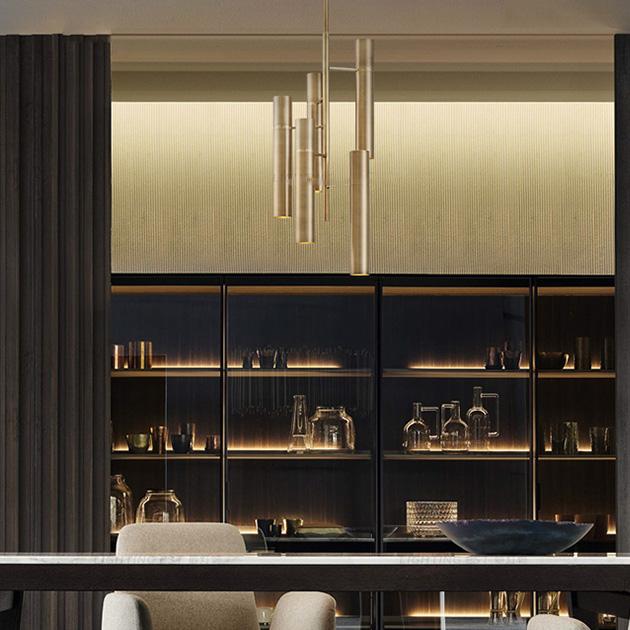 Trident  黃銅吊燈 5