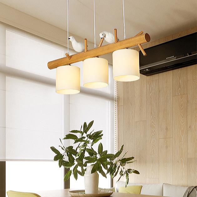 Pigeon  木頭鴿子吊燈 3