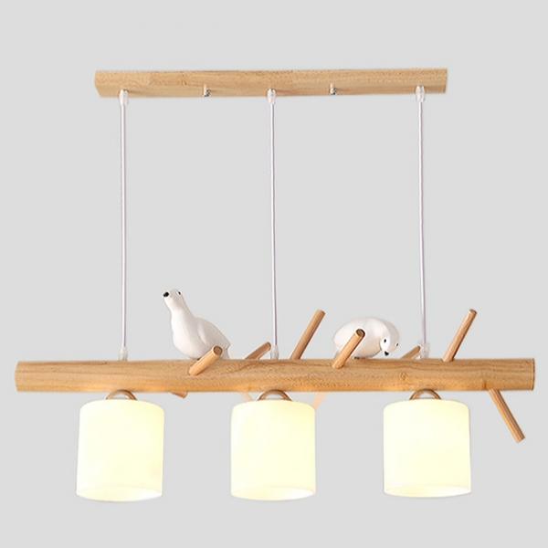 Pigeon  木頭鴿子吊燈 1