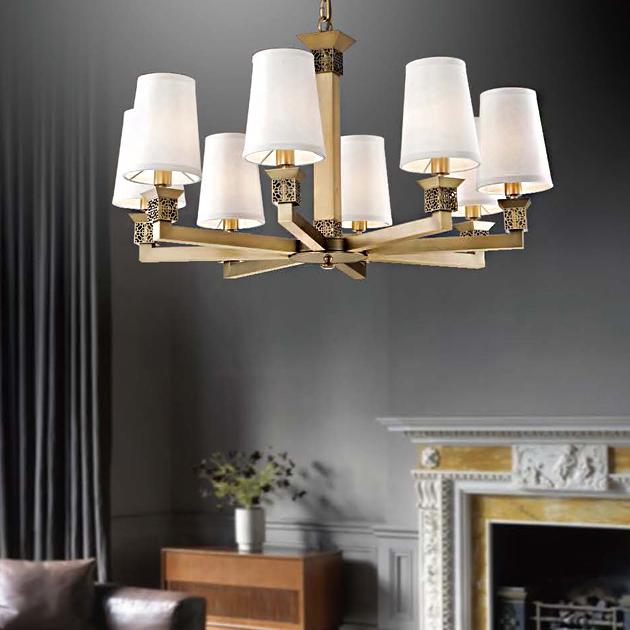 環狀古典鄉村吊燈-8燈 2