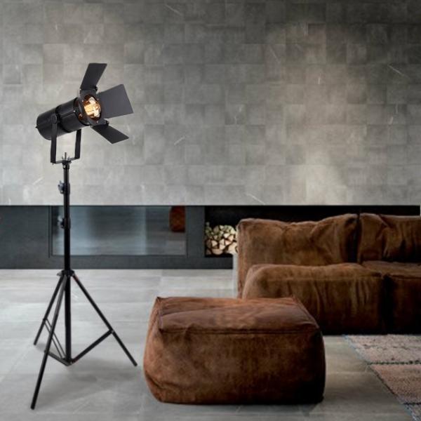 玩攝 復古工業風攝影落地燈 1
