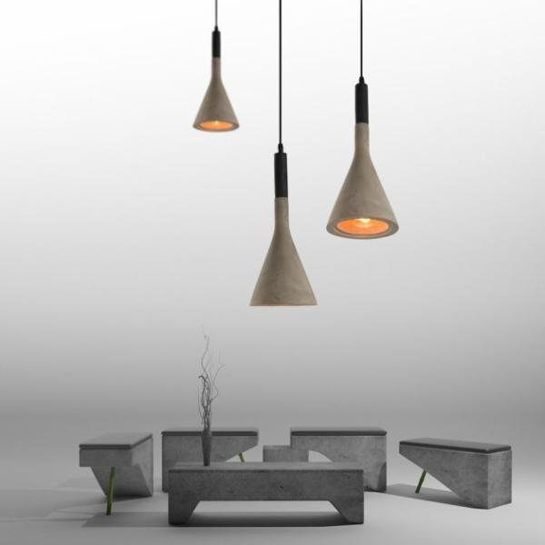 水泥質吊燈 1