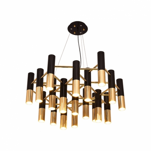 IKE LAMP黑金現代吊燈-19燈 1