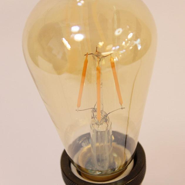6.5W LED E27 ST64愛迪生仿鎢絲燈泡 3