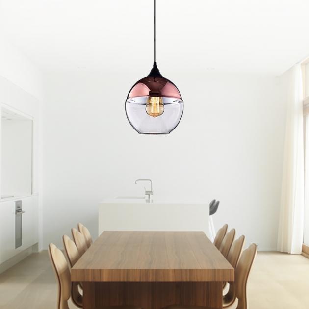 電鍍玻璃單吊燈 4