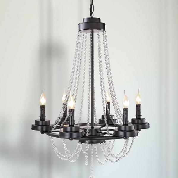 美式水晶蠟燭吊燈 1