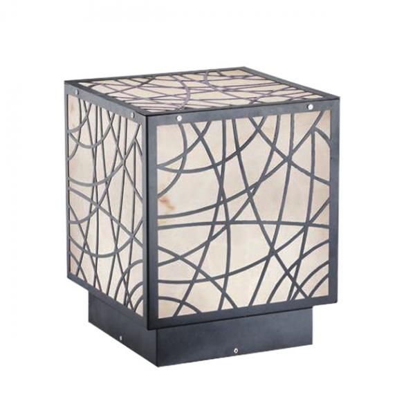 花碎紋方形戶外柱燈 1