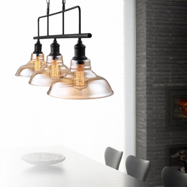 復古工業三頭吊燈 3